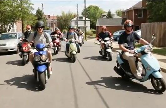 College Kids on Scoots
